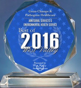 Germ Champs & Pathogenx Healthcare Receives 2016 Best of West Valley Award